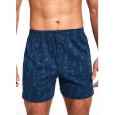 Мужские трусы боксерки хлопок Cornette Comfort 002/194 темно-синий