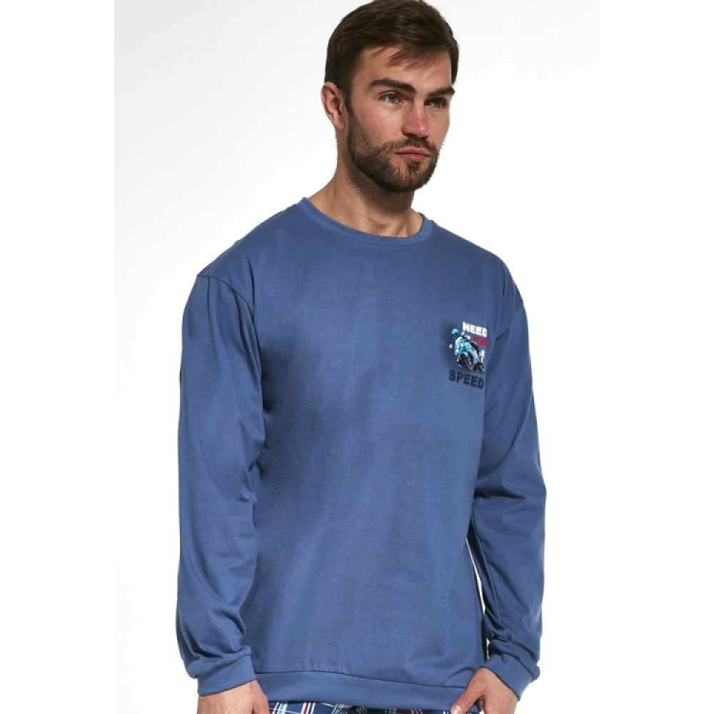 Мужская пижама брюки хлопок Cornette 115/155 синий