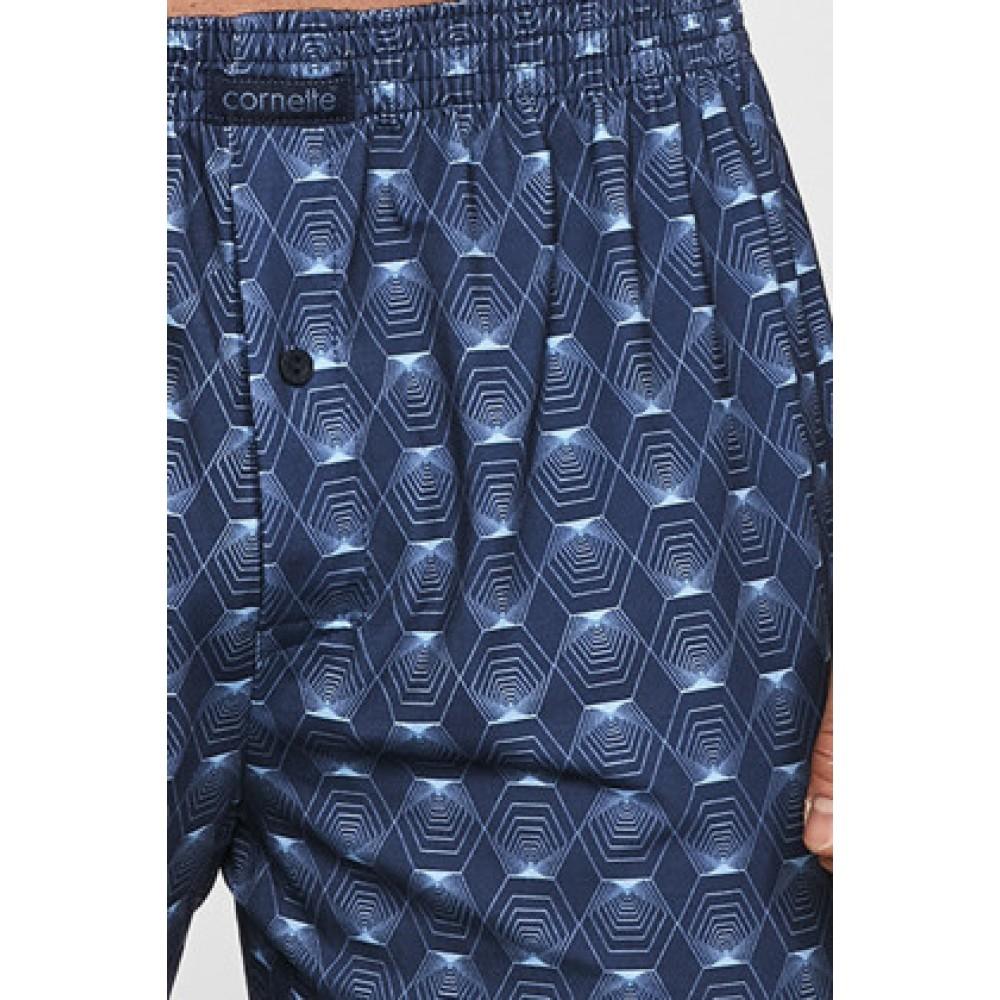 Мужские трусы боксерки хлопок Cornette Clomfort 002/213 темно-синий
