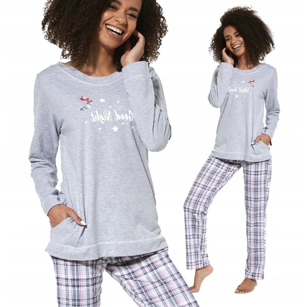 Пижама женская брюки хлопок Cornette 679/254 серый