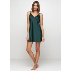 Женская ночная рубашка шелк-сатин Julia 3066-2 зеленый