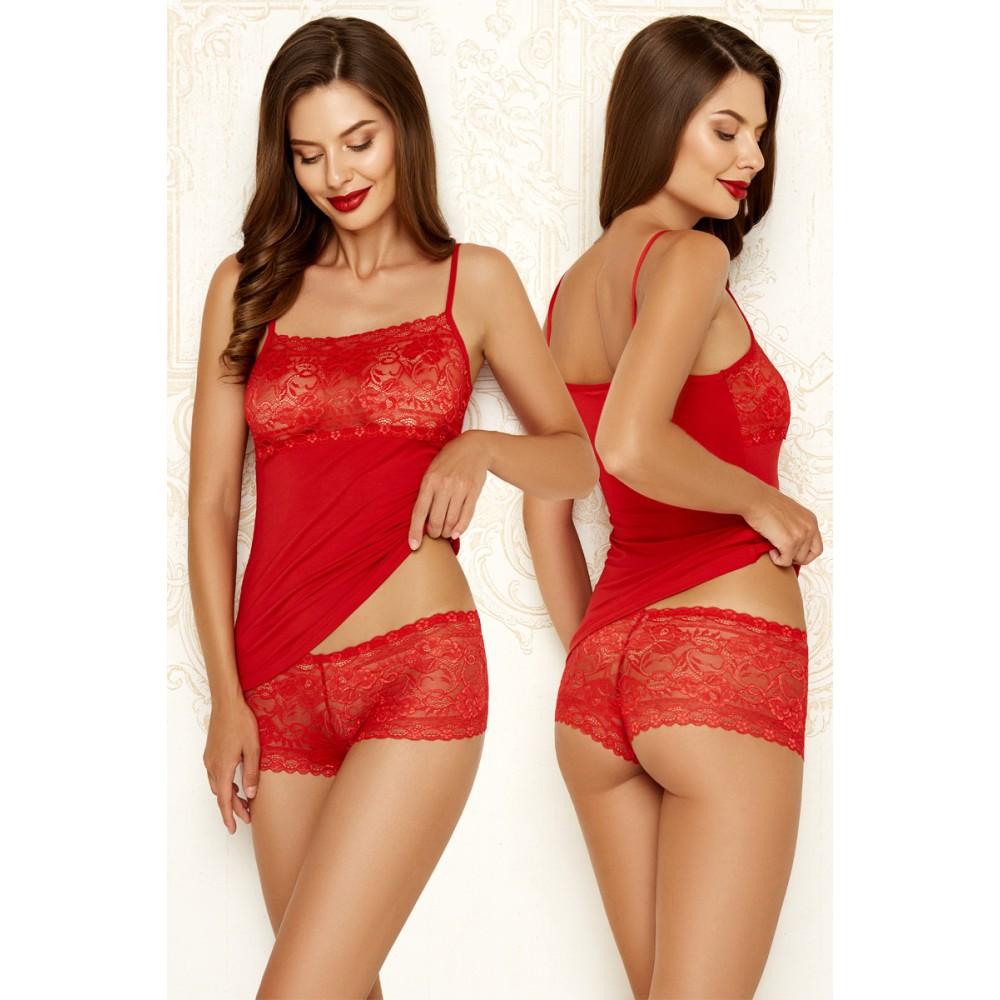 Женский комплект шорты модал Anabel Arto 6212-3 красный