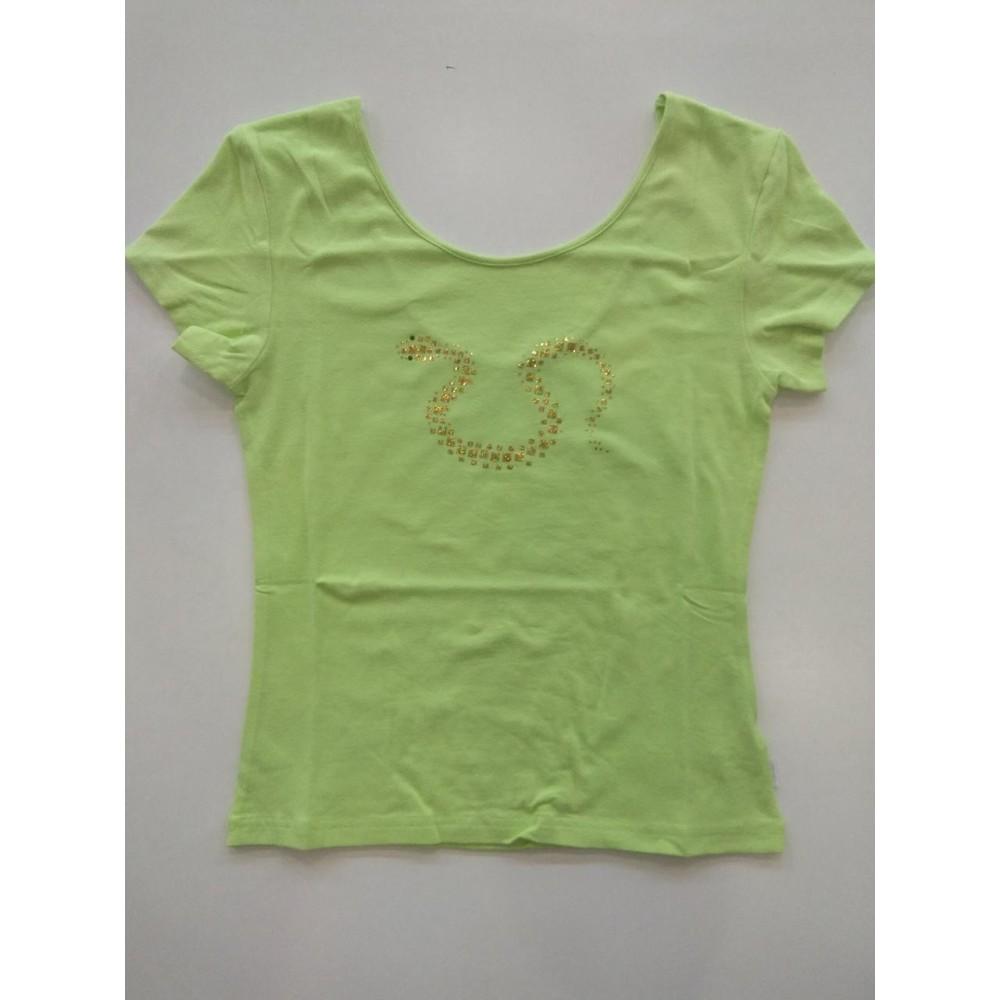 Женская футболка хлопок Atlantic LVS-291 салатовый