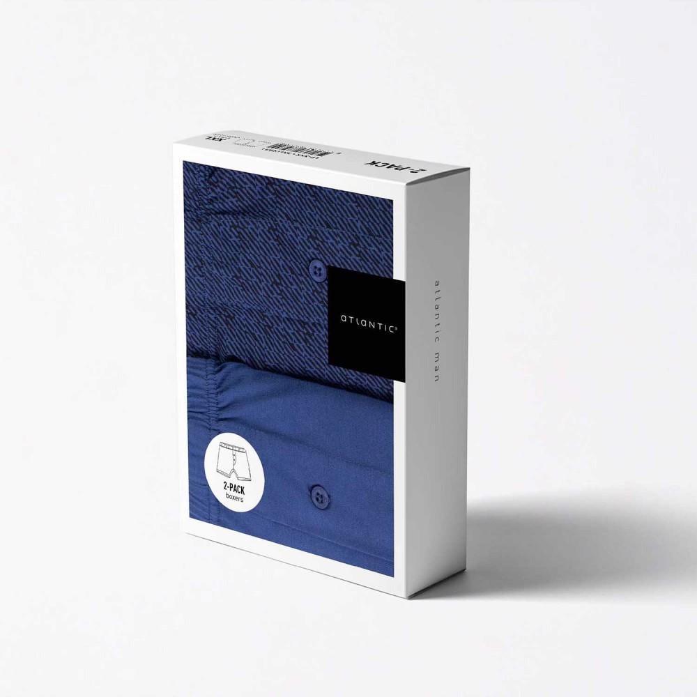Комплект трусов Atlantic 2MBX-001 синий