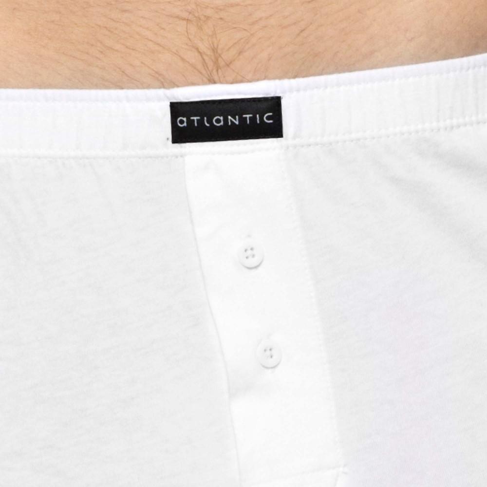Мужские трусы боксерки хлопок  Atlantic BMB-003 белый