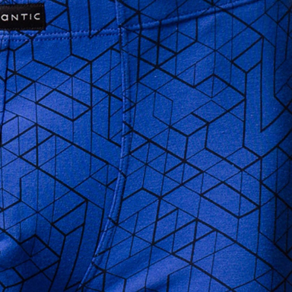 Мужские трусы боксерки хлопок Atlantic MBX-635 голубой