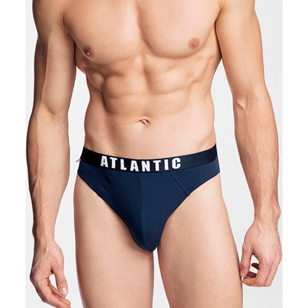 Комплект мужских трусов спорт хлопок Atlantic 3MP-094 темно-синий
