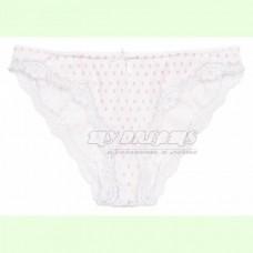Женские трусы мини бикини хлопок Atlantic LP-2176 белый