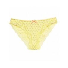 Женские трусы мини бикини хлопок Atlantic LP-2176 желтый