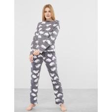 Женская пижама брюки флис Atlantic NLP-458 графитовый