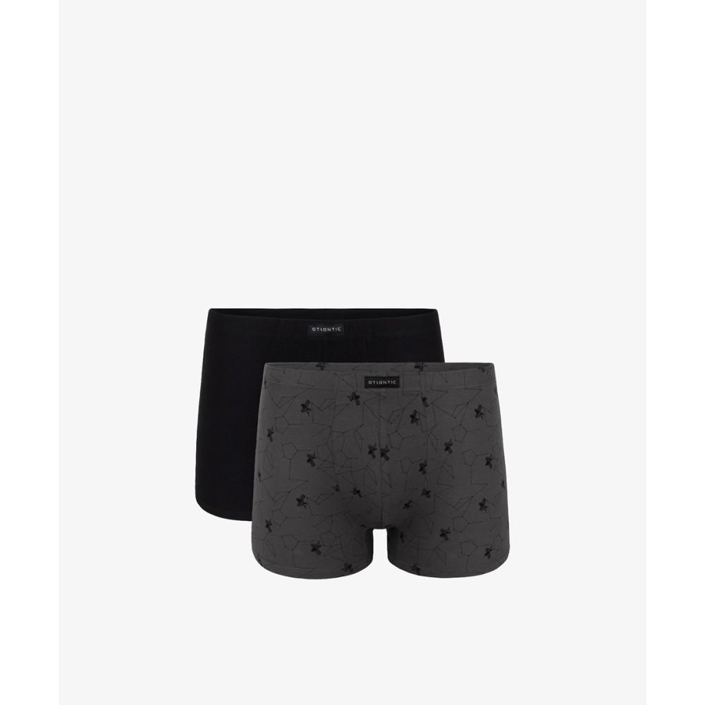 Комплект мужских трусов шорт хлопок Atlantic 2MH-073 разноцветный