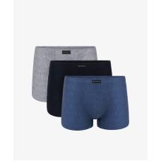 Комплект мужских трусов шорт хлопок Atlantic 3MH-002 разноцветный