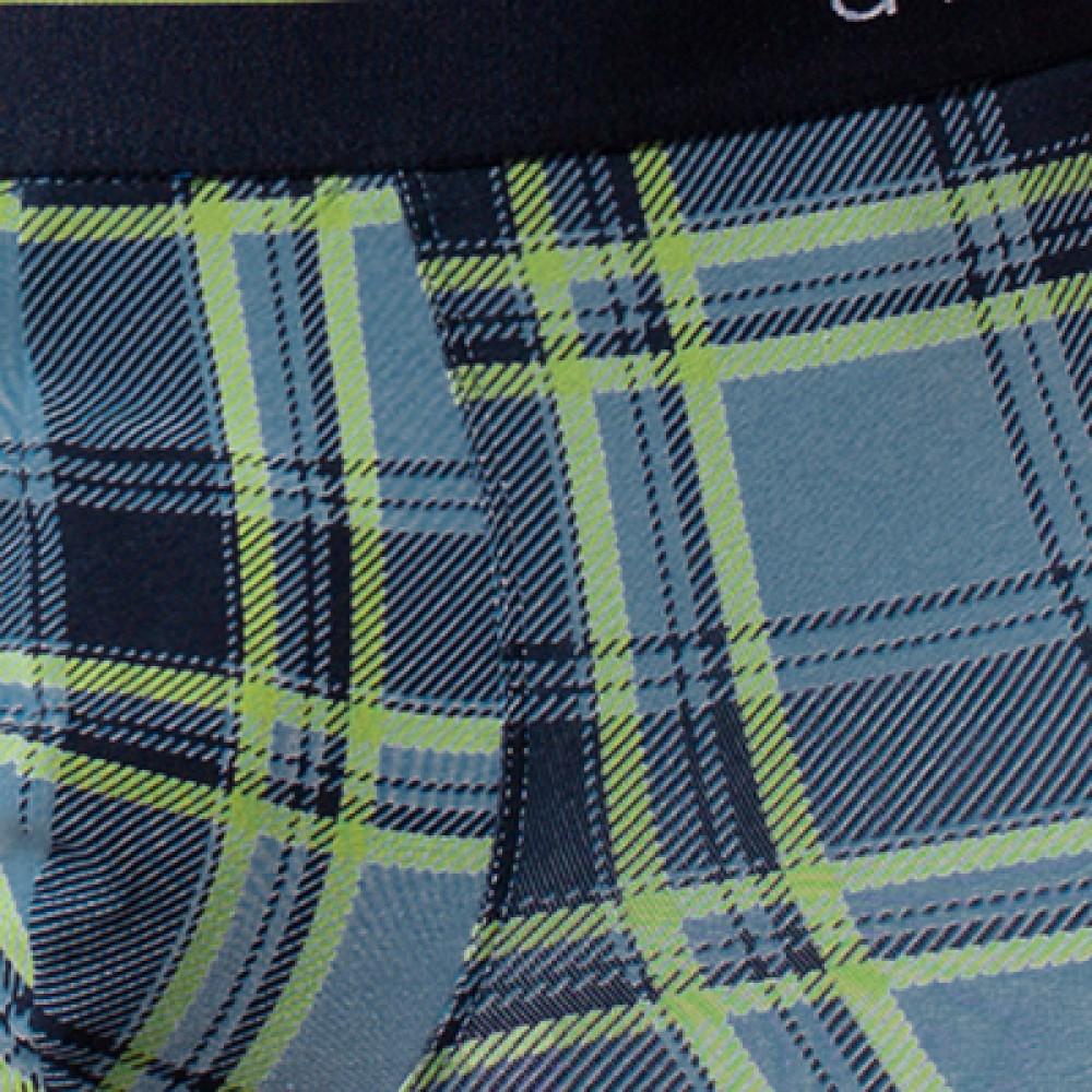 Мужские трусы шорты хлопок Atlantic MH-1134 синий