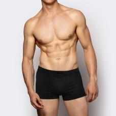 Мужские трусы шорты хлопок Atlantic BMH-007 черный