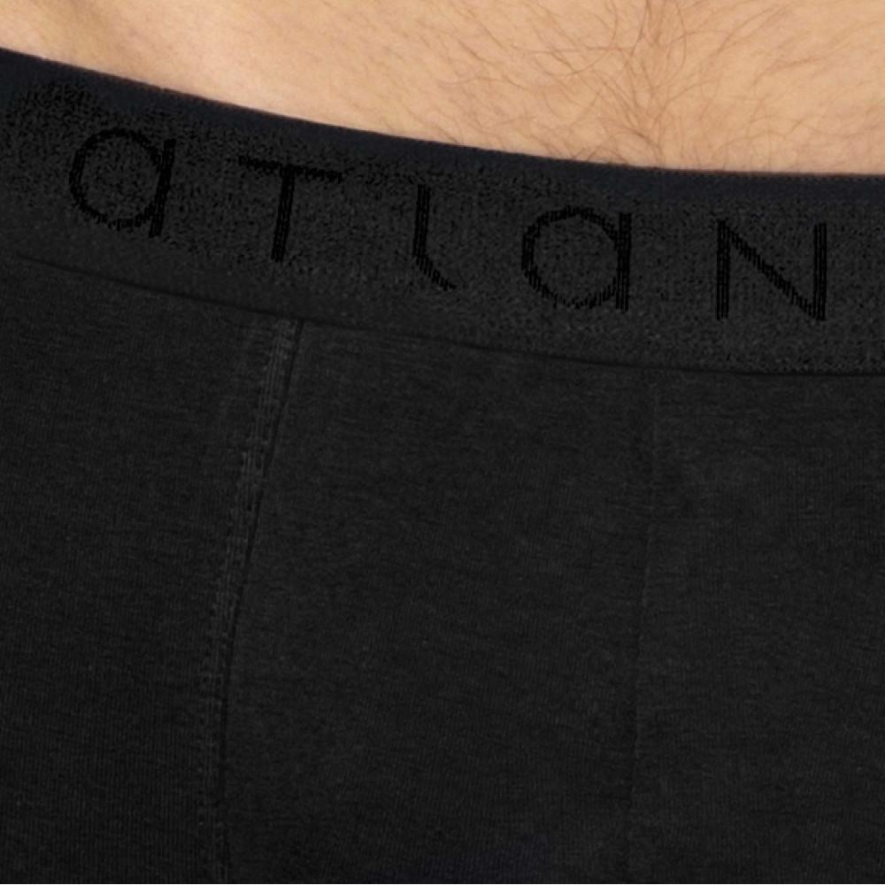 Мужские трусы шорты хлопок Atlantic BMH-018 черный