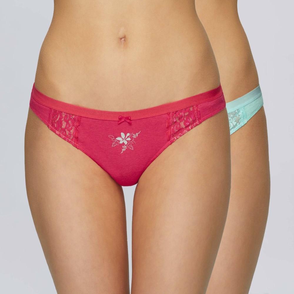 Комплект женских трусов мини бикини хлопок Atlantic 2LP-2736