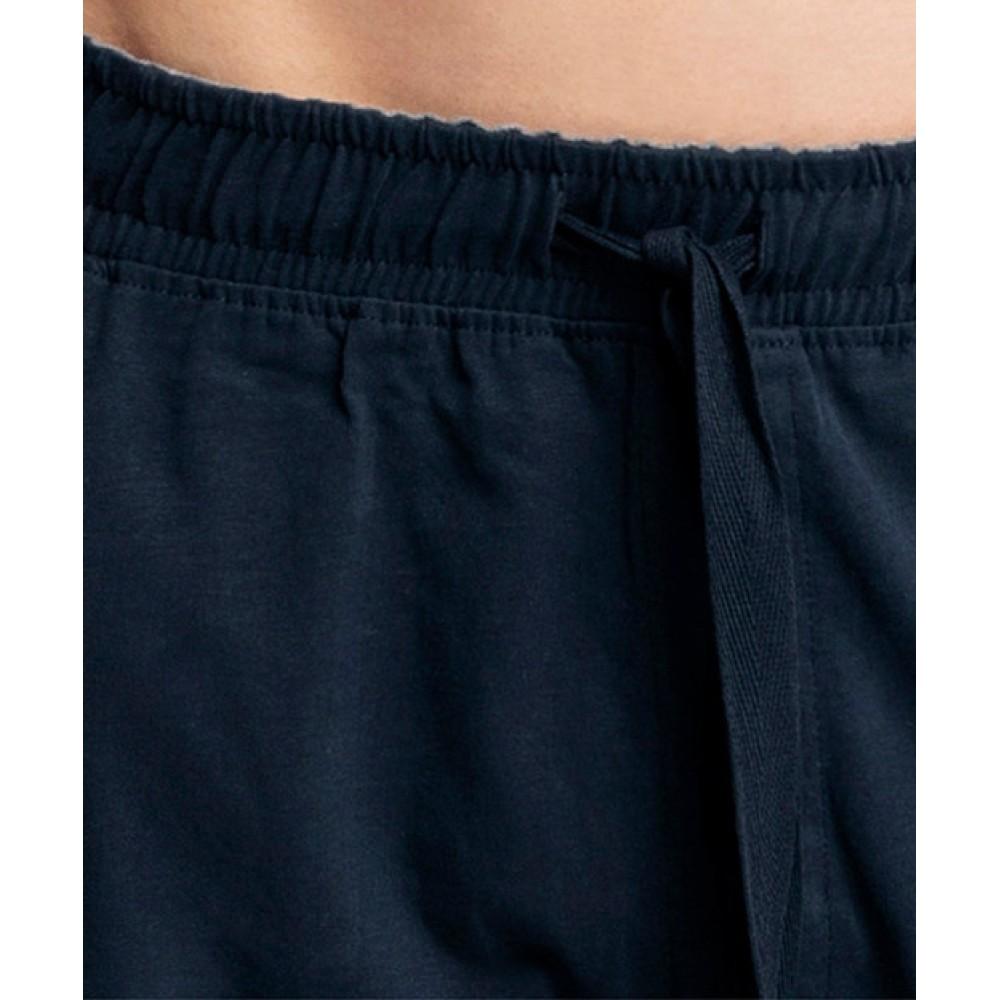 Мужские домашние шорты хлопок Atlantic NMP-039 темно-синий