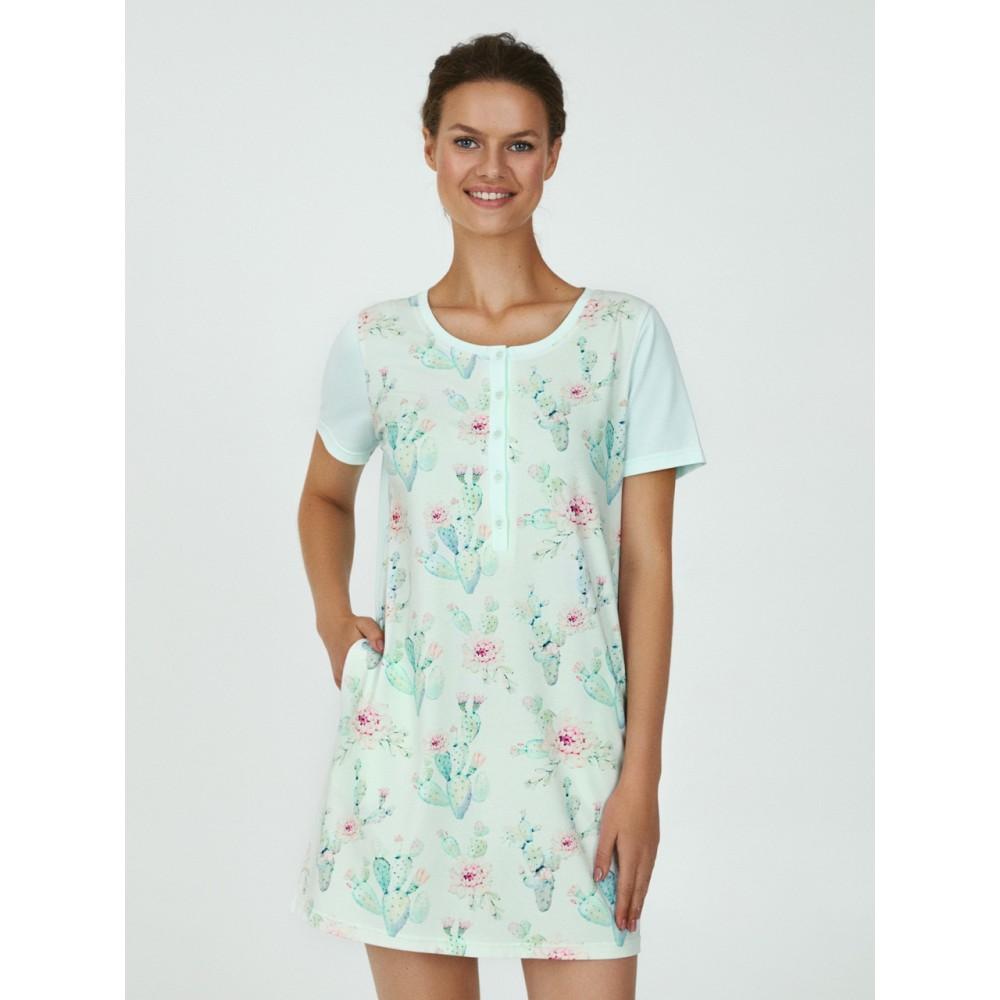 Женская ночная рубашка хлопок Ellen LDK 103/03/01 мятный
