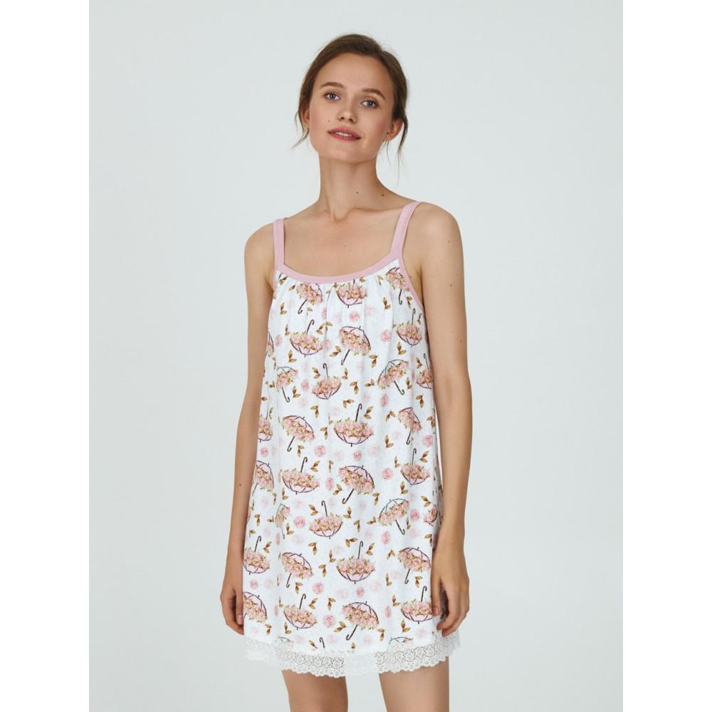 Ночная рубашка ТМ Ellen LDK 117/03/01 бело-розовый