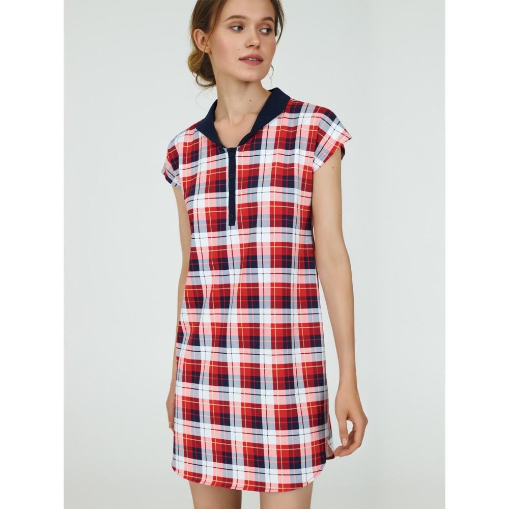 Женская ночная рубашка хлопок Ellen LDK 120/07/01 красный