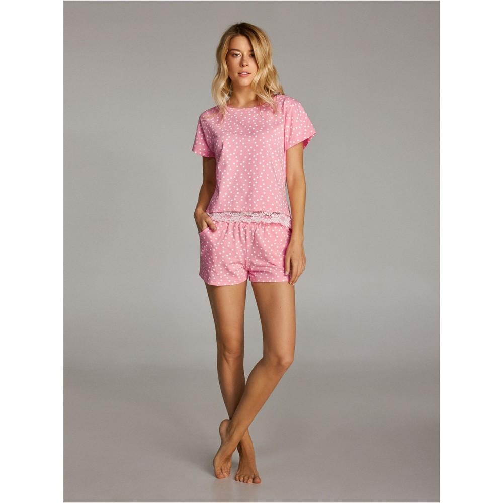 Женская пижама шорты хлопок Ellen LNP 293/001 розовый