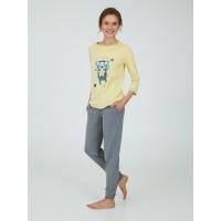 Пижама женская Ellen LPK 0981/01/01 желтый