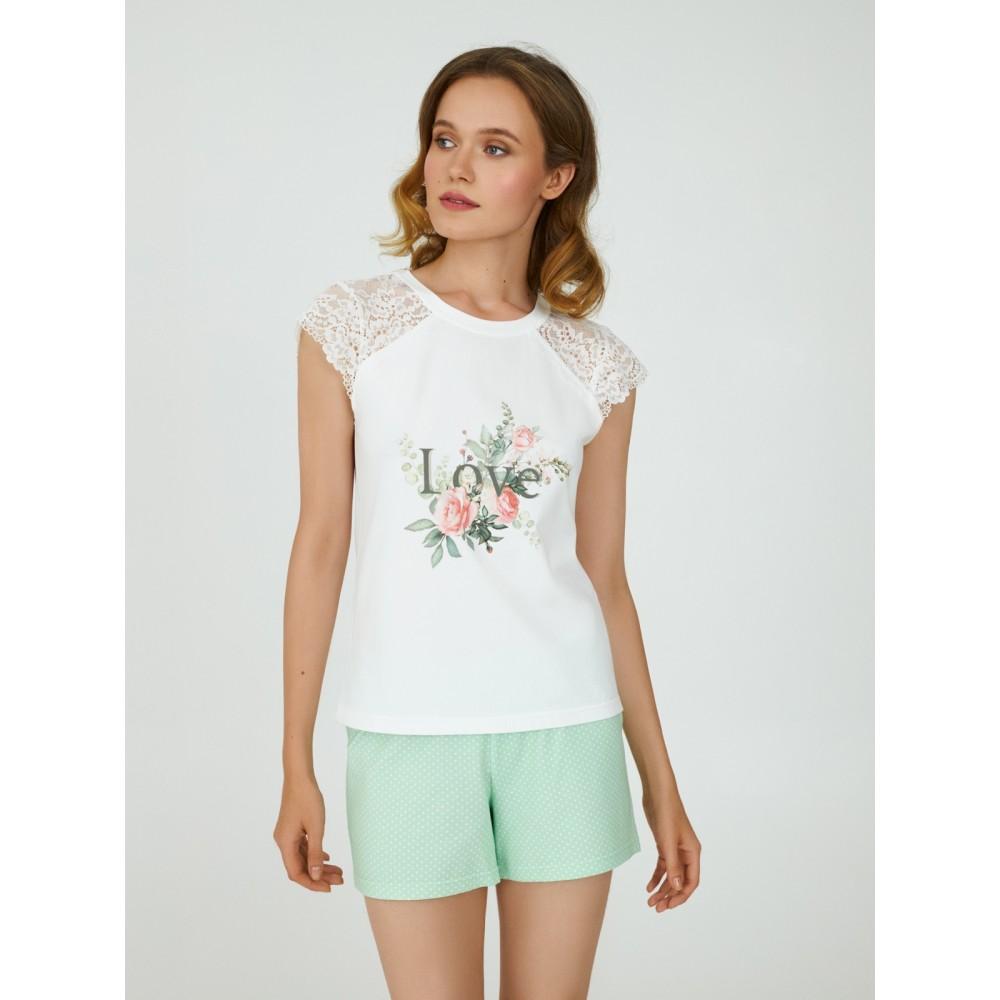 Пижама женская ТМ Ellen LPK 2570/01/01 зеленый