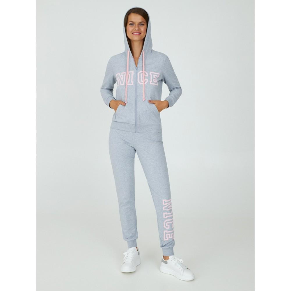 Женский костюм хлопок Ellen LPD 1382/02/02 светло-серый