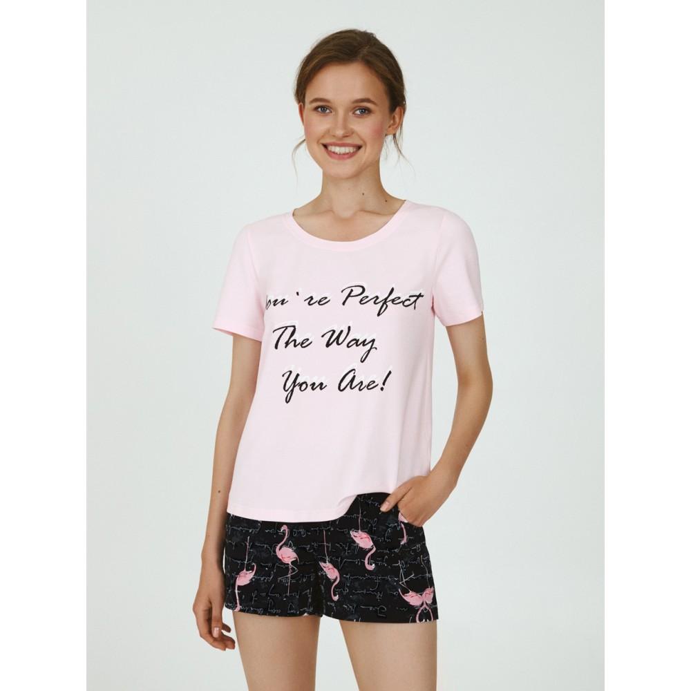 Пижама женская Ellen LPK 2070/02/01 розово-черный