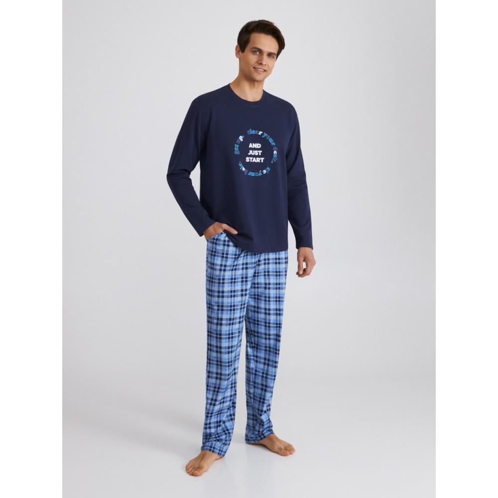 Мужская пижама брюки хлопок Ellen MPF 0880/02/01 темно-синий