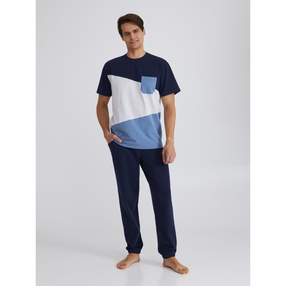 Мужская пижама брюки хлопок Ellen MPK 2081/01/01 темно-синий