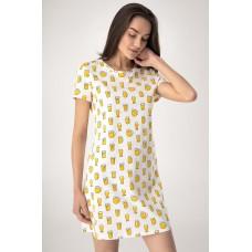 Женская ночная рубашка хлопок Jasmine Sesilia 4510/73 молочный