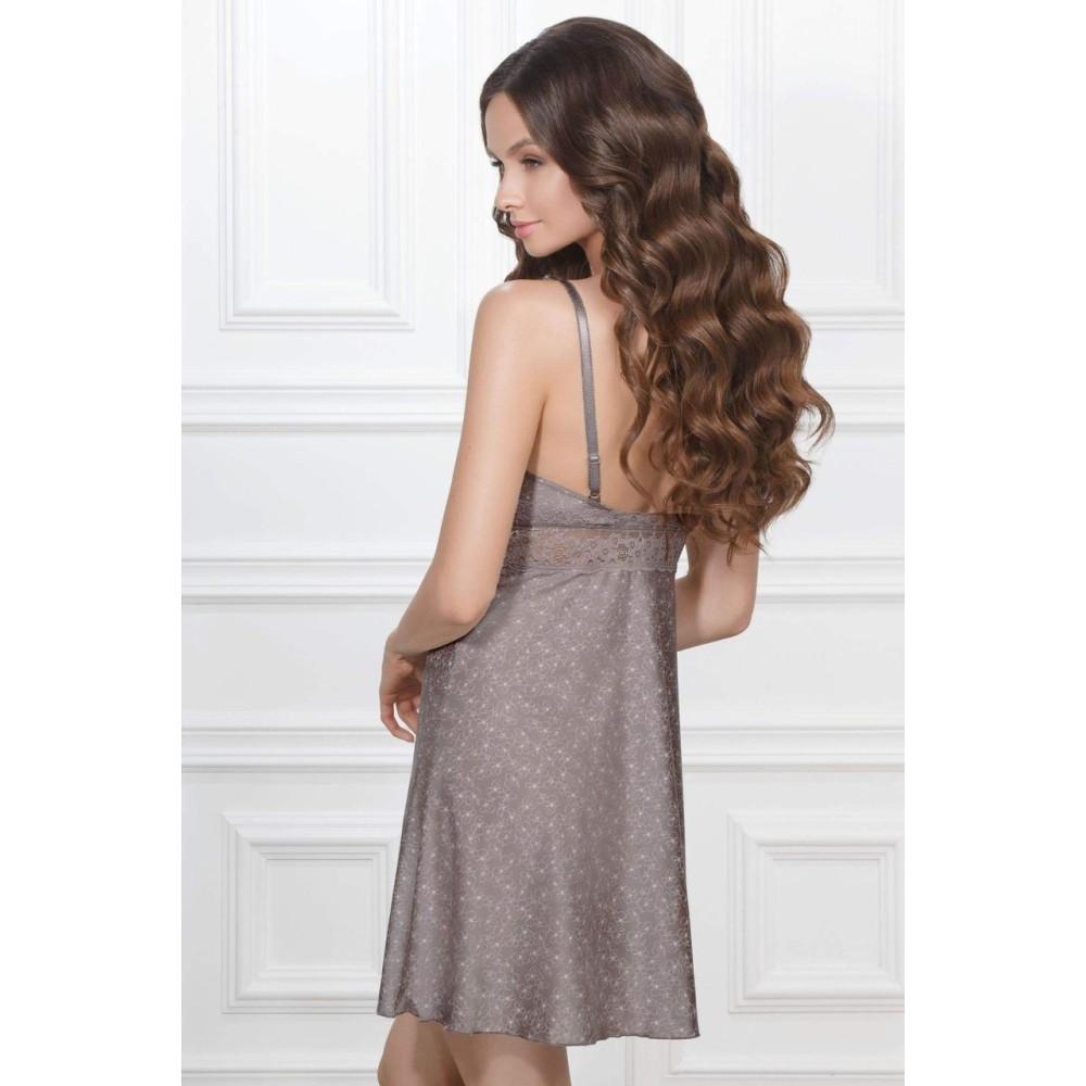 Ночная рубашка Malena TМ Jasmine 8147/80 серо-розовый