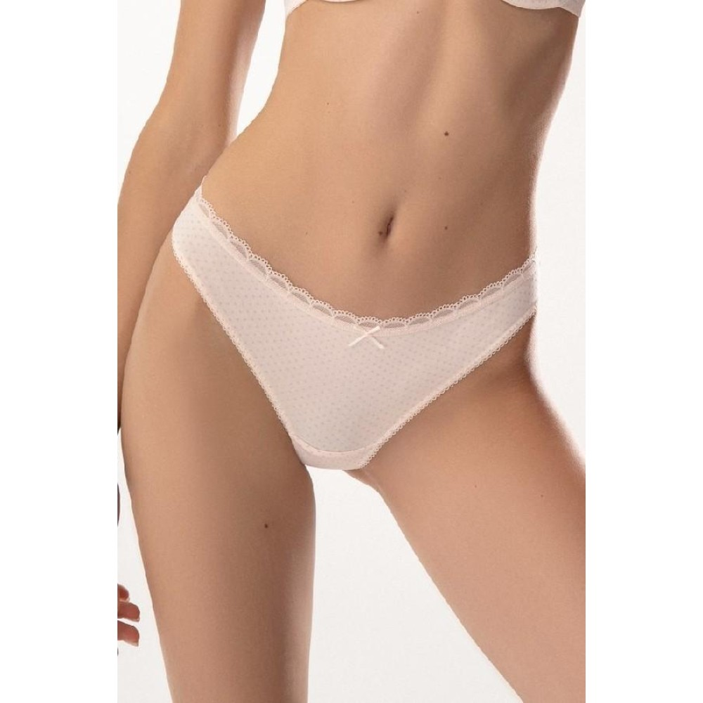 Женские трусы стринги хлопок Jasmine Keren 3105/21 светло-розовый