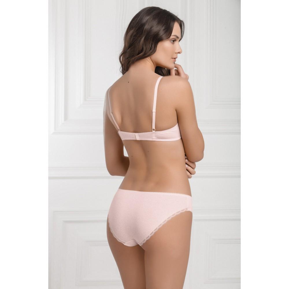 Женские трусы мини бикини хлопок Jasmine Cilena 3404/21 светло-розовый