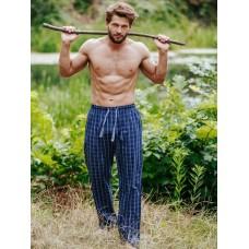 Пижамные мужские брюки хлопок Key MHT-432 темно-синий