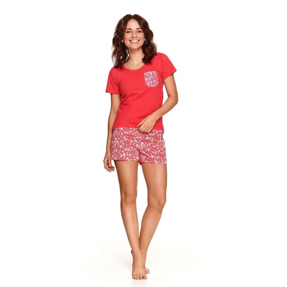Женская пижама шорты хлопок Taro Agness 2499 коралловый