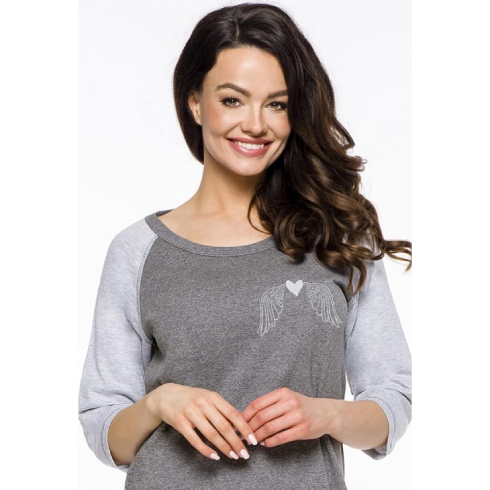 Женская ночная рубашка хлопок Taro Mocca 2325 серый