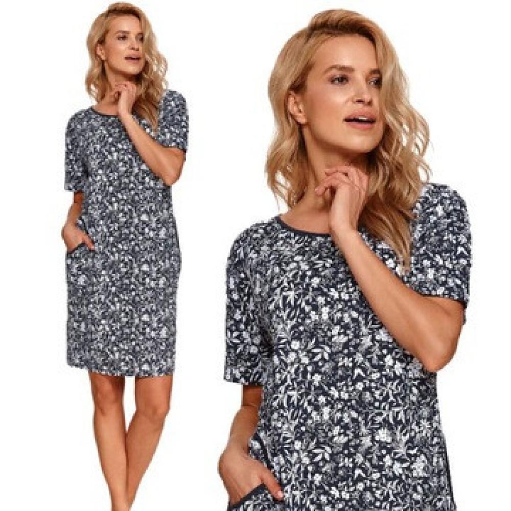 Женская ночная рубашка хлопок Taro Nessa 2385 темно-синий