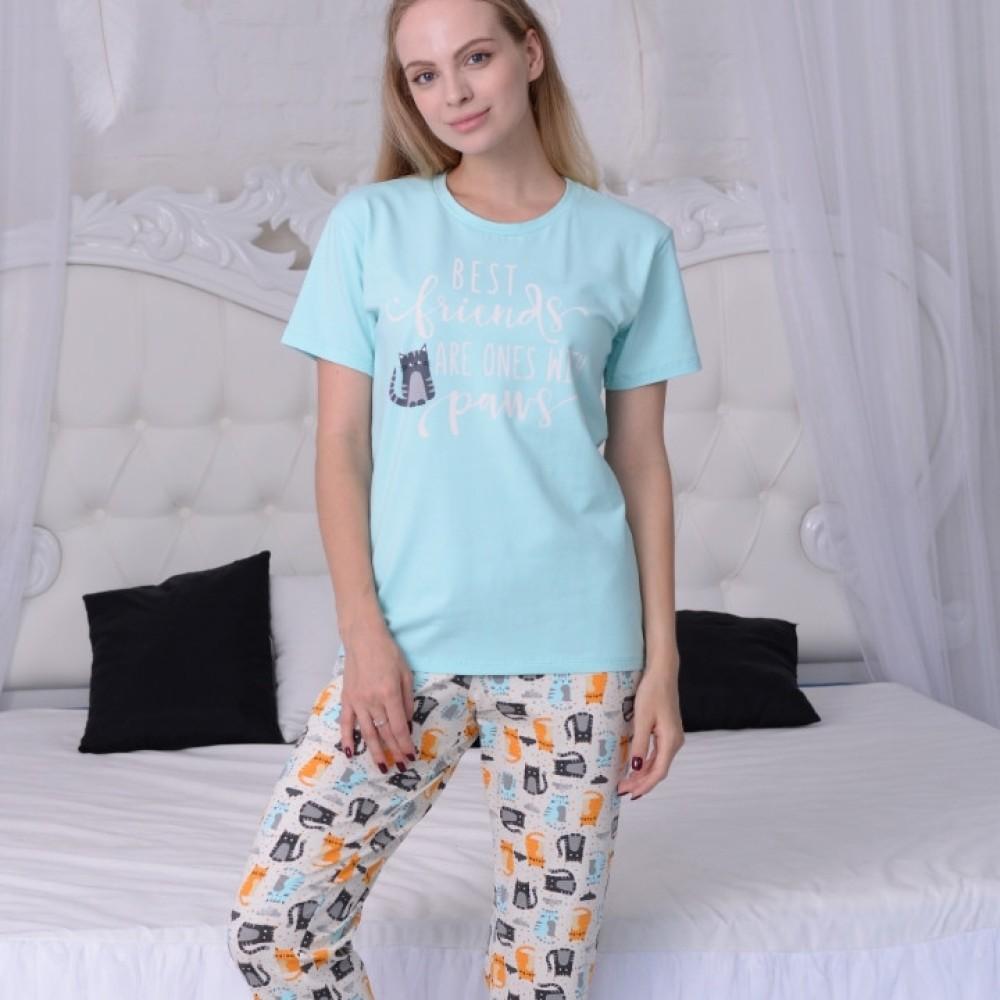 Женская пижама футболка и бриджи ТМ Antana