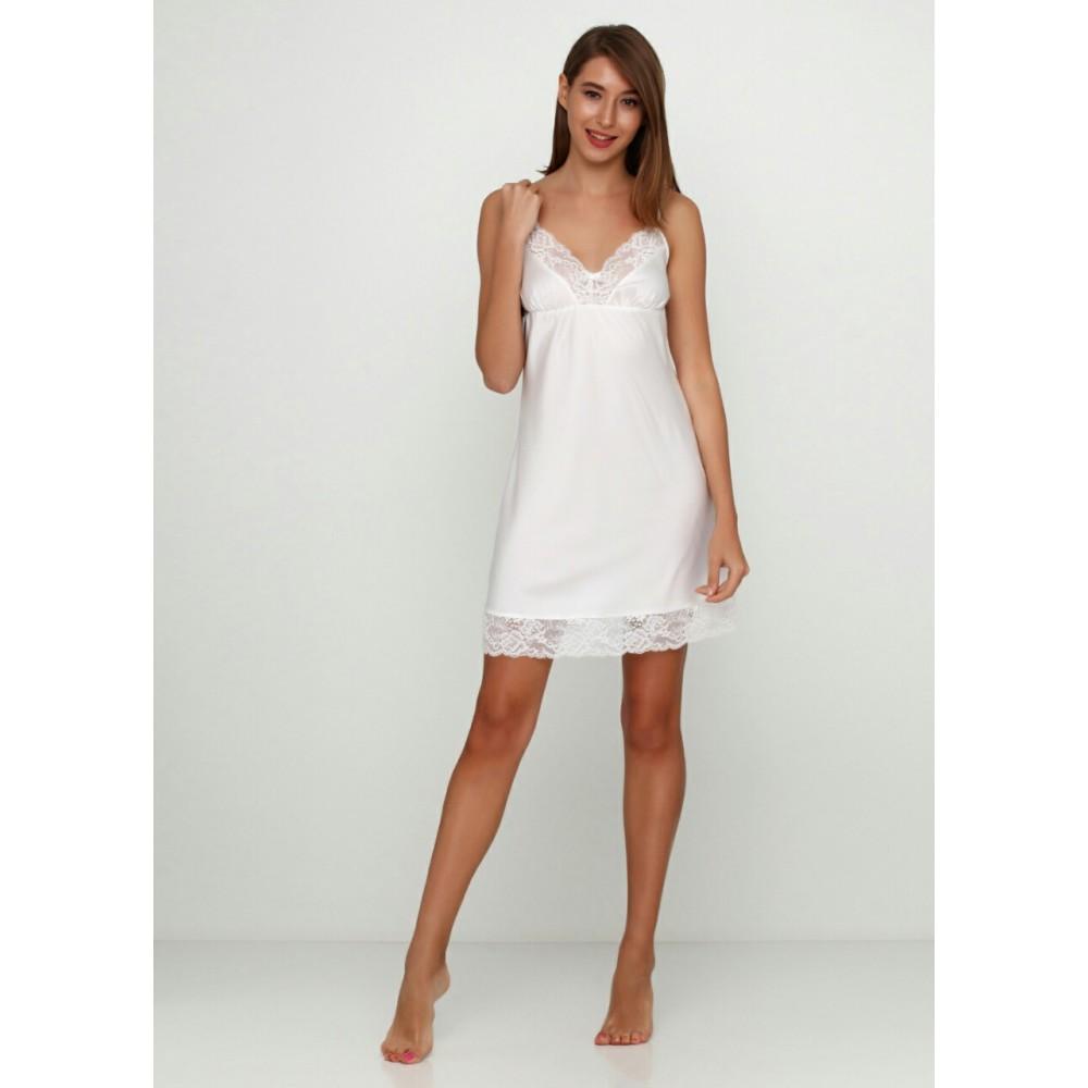 Женская ночная рубашка шелк-сатин Julia 3141-1 шампань