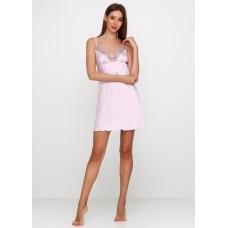 Женская ночная рубашка шелк-сатин Julia 5020-38 лаванда