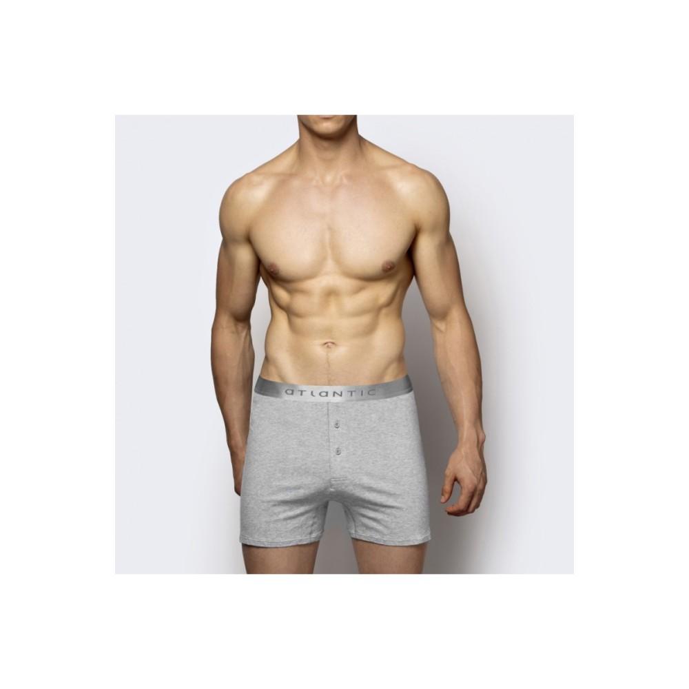 Мужские трусы боксерки модал Atlantic BMB-005 сетло-серый меланж