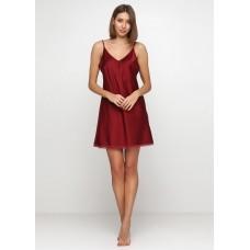 Женская ночная рубашка шелк-сатин Julia 3066-1 бордо