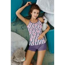 Пижама женская TM Anabel Arto 6212 фиолетовый