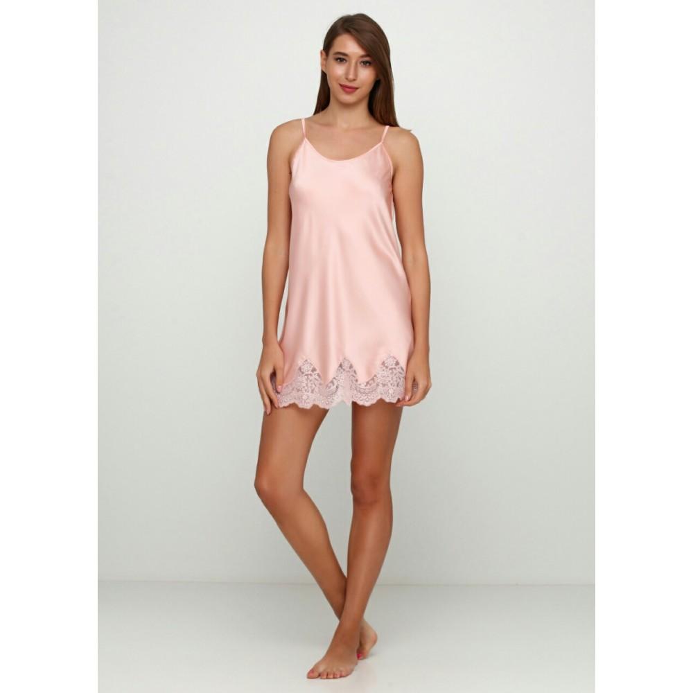 Женская ночная рубашка шелк-сатин Julia 5018-44 абрикосовый